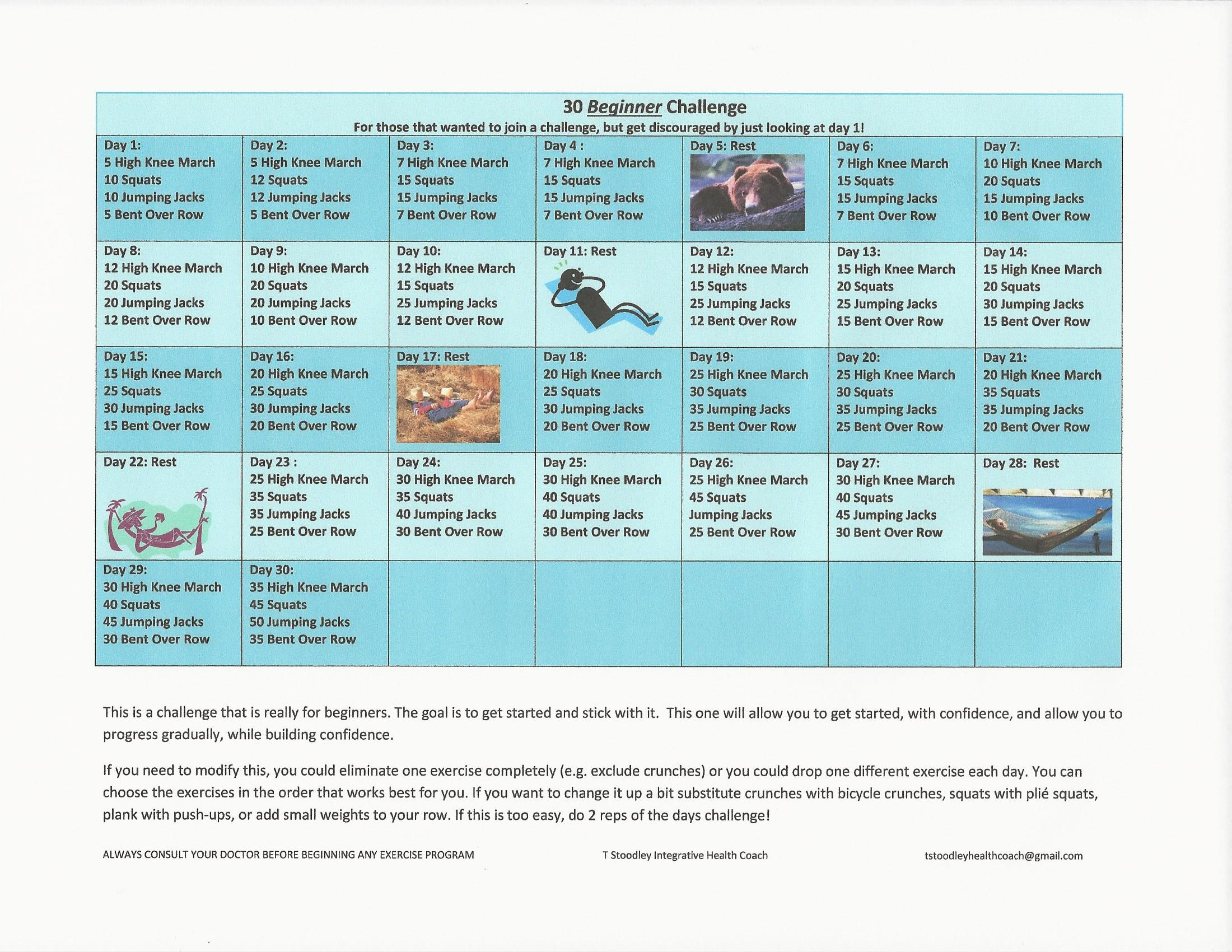 Beginner 30 day Alternate Challenge