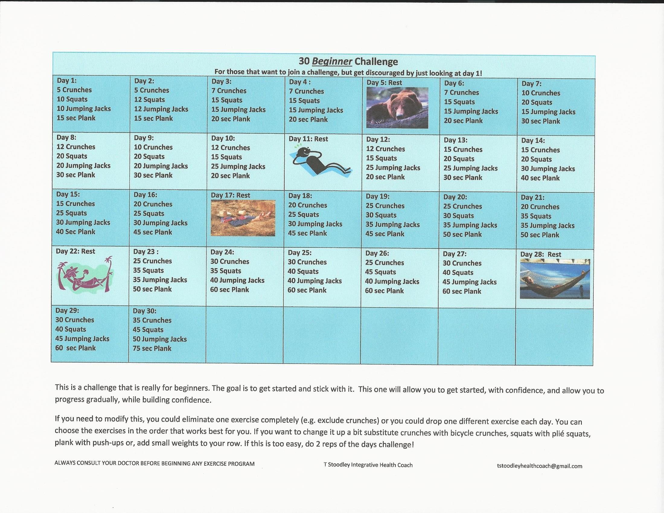 Beginner 30 Day Challenge