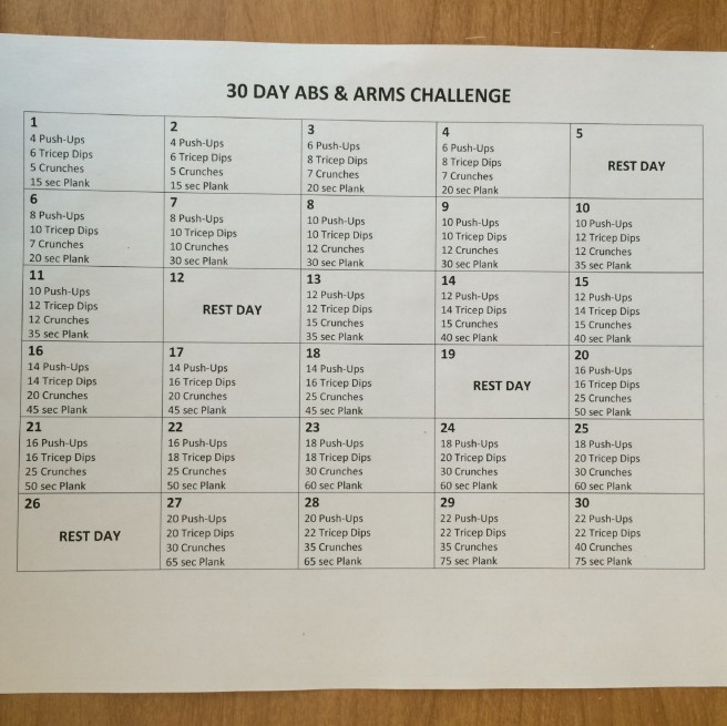 Abs & Arms Challenge